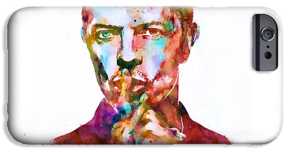 David Mixed Media iPhone Cases - David Bowie watercolor iPhone Case by Marian Voicu