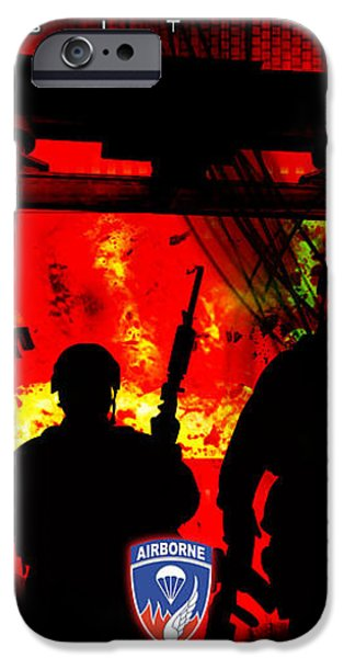 David Cook Los Angeles 187th Regiment Rakkasan Ne Desit Virtus Artwork iPhone Case by David Cook Los Angeles
