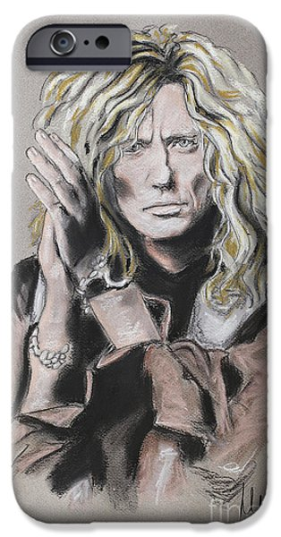 David iPhone Cases - David Coverdale iPhone Case by Melanie D
