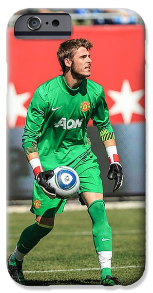 Recently Sold -  - Soldier Field iPhone Cases - David De Gea iPhone Case by Keith R Crowley