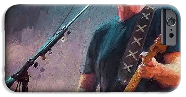 David iPhone Cases - David Gilmour at Pink Floyd iPhone Case by Yury Malkov