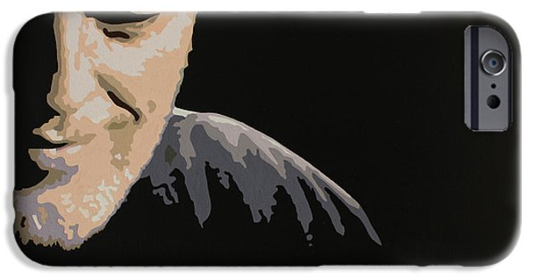 Against The War iPhone Cases - David Gilmour iPhone Case by Dennis Nadeau