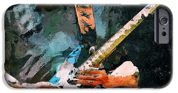 David iPhone Cases - David Gilmour Song iPhone Case by Yury Malkov