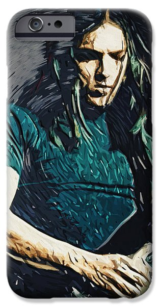 David iPhone Cases - David Gilmour iPhone Case by Taylan Soyturk
