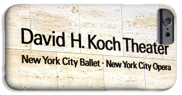 David iPhone Cases - David H. Koch Theater iPhone Case by Valentino Visentini