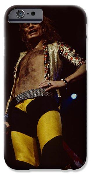 Van Halen iPhone Cases - David Lee Roth - Van Halen at the Oakland Coliseum 12-2-1978 Rare Unreleased iPhone Case by Daniel Larsen