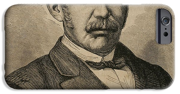 19th Century Photographs iPhone Cases - David Livingstone 1813-1873. Engraving iPhone Case by Bridgeman Images