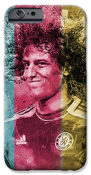 Brasil iPhone Cases - David Luiz - C iPhone Case by Corporate Art Task Force