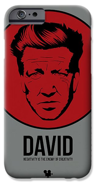 Film Mixed Media iPhone Cases - David Poster 1 iPhone Case by Naxart Studio