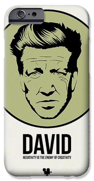 Film Mixed Media iPhone Cases - David Poster 2 iPhone Case by Naxart Studio