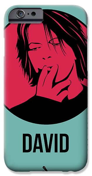 Icon Mixed Media iPhone Cases - David Poster 3 iPhone Case by Naxart Studio