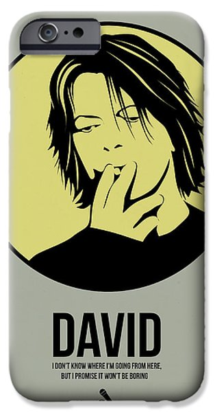 Famous Musician iPhone Cases - David Poster 4 iPhone Case by Naxart Studio