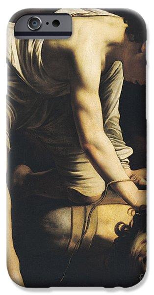 Goliath iPhone Cases - David Victorious over Goliath iPhone Case by Michelangelo Merisi da Caravaggio