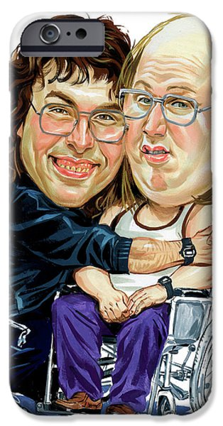 David iPhone Cases - David Walliams and Matt Lucas as Lou and Andy iPhone Case by Art