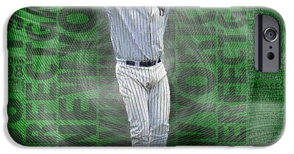 David Mixed Media iPhone Cases - David Wells Yankees Perfect Game 1998 iPhone Case by Tony Rubino