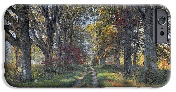 Daviess County Photographs iPhone Cases - Daviess County Lane iPhone Case by Wendell Thompson