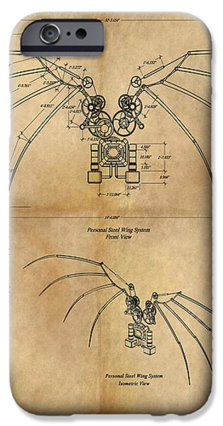 DaVinci's Wings iPhone Case by James Christopher Hill