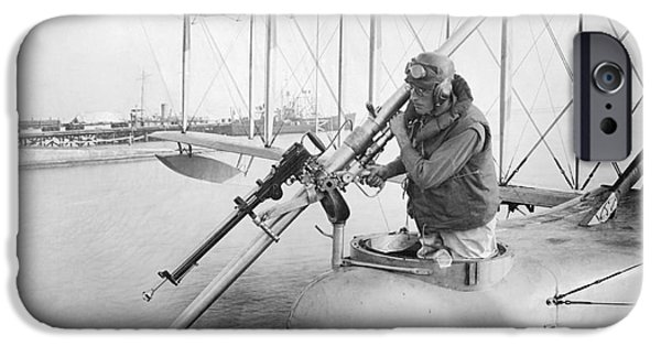 Wwi iPhone Cases - Davis Anti-submarine Gun, World War I iPhone Case by Library Of Congress