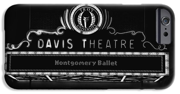Facade iPhone Cases - Davis Theatre Marque - Montgomery Alabama iPhone Case by Mountain Dreams