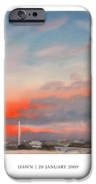 Dawn 20 January 2009 iPhone Case by William Van Doren