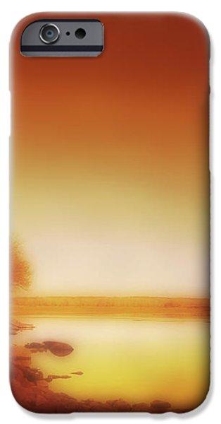 Dawn Arkansas River iPhone Case by Ann Powell