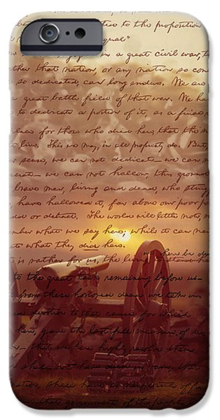 Gettysburg Digital iPhone Cases - Dawn At Gettysburg iPhone Case by Gary Grayson