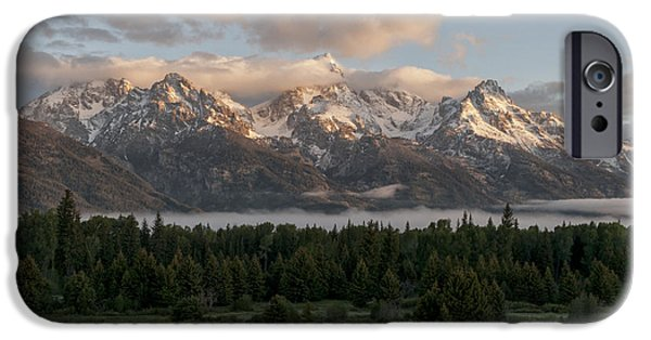 Rise iPhone Cases - Dawn At Grand Teton National Park iPhone Case by Brian Harig