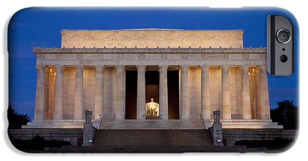 Lincoln Photographs iPhone Cases - Dawn at Lincoln Memorial iPhone Case by Brian Jannsen