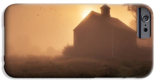 Agricultural iPhone Cases - Dawn breaks iPhone Case by Edward Fielding