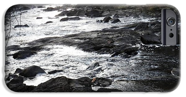 Blackstone River iPhone Cases - Dawn downstream iPhone Case by Ted Rickson