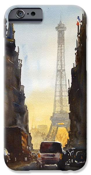 Paris iPhone Cases - Dawn in Paris iPhone Case by James Nyika