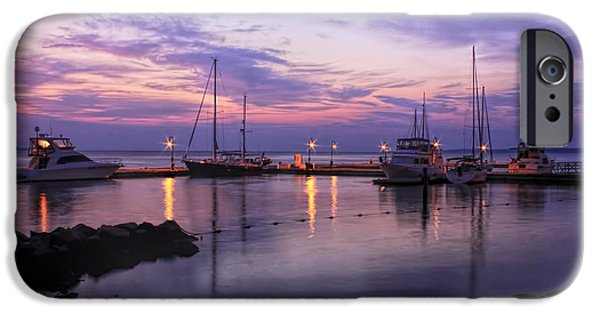Yorktown iPhone Cases - Dawn in Yorktown Virginia iPhone Case by Olahs Photography