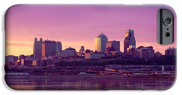 Finance iPhone Cases - Dawn Kansas City Mo iPhone Case by Panoramic Images