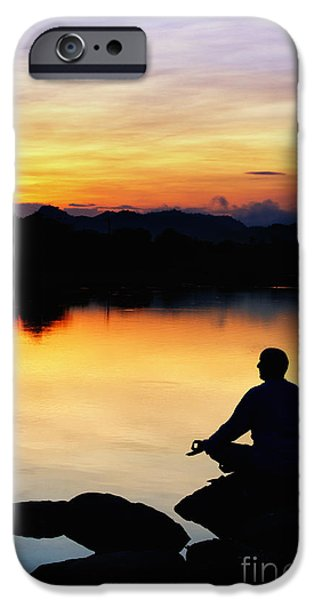 Nature Divine iPhone Cases - Dawn Meditation iPhone Case by Tim Gainey