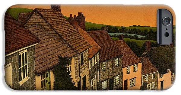 Village Mixed Media iPhone Cases - Dawn iPhone Case by Meg Shearer
