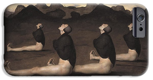 Caravaggio iPhone Cases - Dawn iPhone Case by Odd Nerdrum