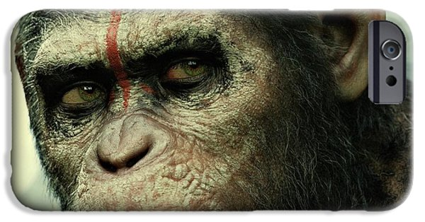 Business Digital Art iPhone Cases - Dawn of the Planet of the Apes  iPhone Case by Movie Poster Prints