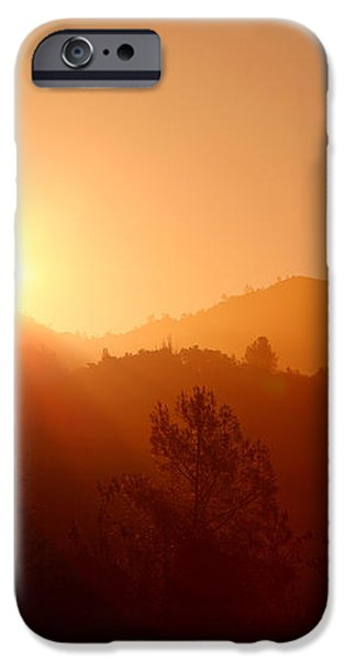 Dawn Over Calistoga iPhone Case by Posterity Productions