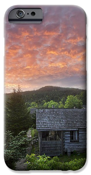 Dawn Over LeConte iPhone Case by Debra and Dave Vanderlaan
