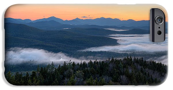 Park Scene iPhone Cases - Dawn Over The High Peaks From Goodnow iPhone Case by Panoramic Images