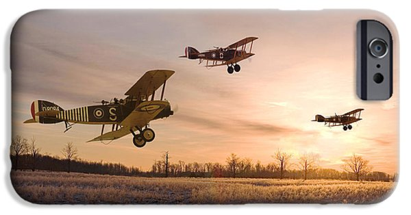 Classic Aircraft iPhone Cases - Dawn Patrol iPhone Case by Pat Speirs