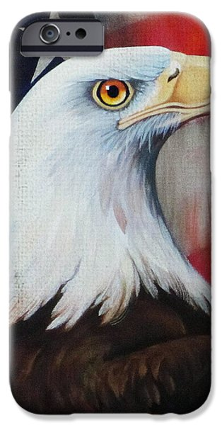 Mascots Mixed Media iPhone Cases - Dawns Early Light - Distressed Burlap iPhone Case by Jean R Brown - Terri Brown Guerra