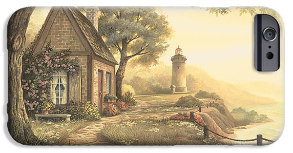 Lighthouse iPhone Cases - Dawns Early Light iPhone Case by Michael Humphries