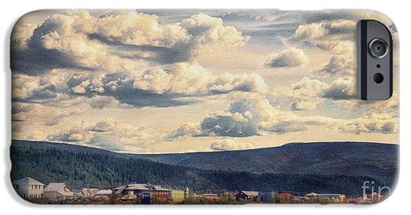 Village iPhone Cases - Dawson City iPhone Case by Priska Wettstein