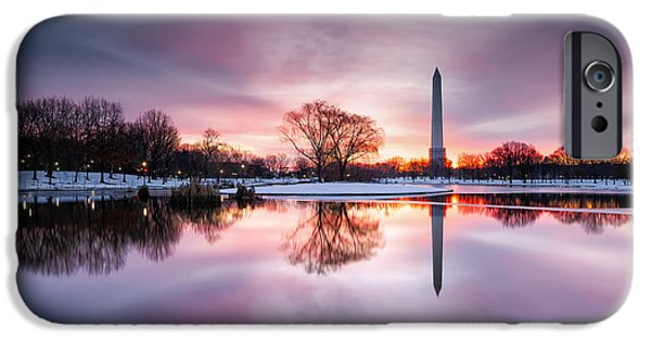 Constitution iPhone Cases - Day And Night Meet As The World Is Painted In Hues Of Pastels iPhone Case by Edward Kreis