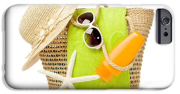 Wicker iPhone Cases - Day At The Beach iPhone Case by Amanda And Christopher Elwell