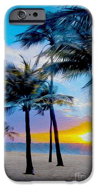 Recently Sold -  - Ocean Sunset iPhone Cases - Day at the Beach iPhone Case by Jon Neidert