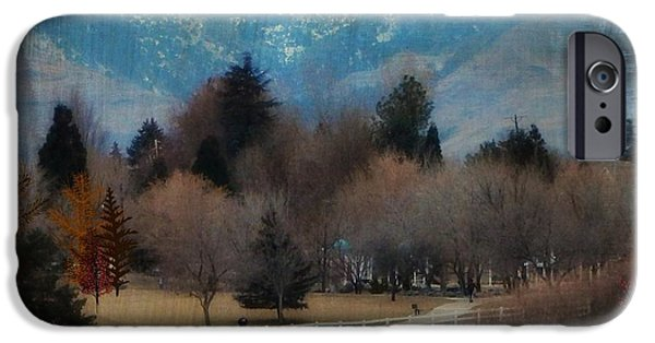 Matting iPhone Cases - Day at the Park Painting Digitally iPhone Case by Bobbee Rickard