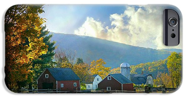 Connecticut Farm iPhone Cases - Day Break iPhone Case by Diana Angstadt