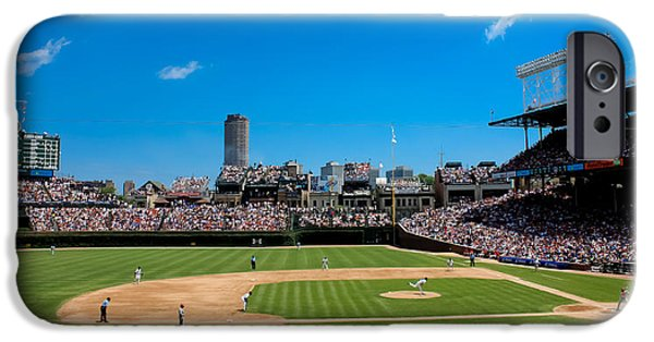 Wrigley iPhone Cases - Day Game at Wrigley Field iPhone Case by Anthony Doudt